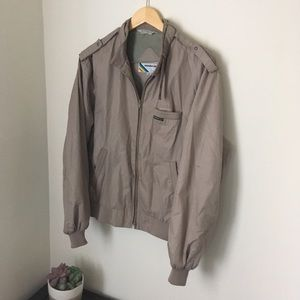 Tan Brown members only jacket